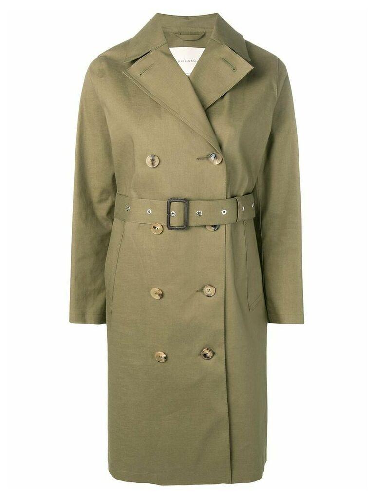 Mackintosh Khaki Bonded Cotton Trench Coat LR-022 - Green