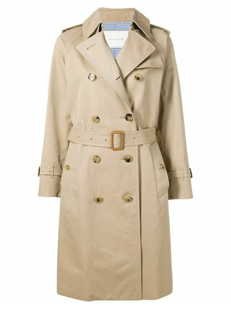 Mackintosh Honey Cotton Trench Coat LM-40F - Brown