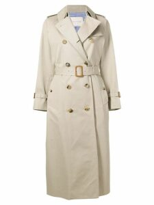 Mackintosh Sand Cotton Long Trench Coat LM-041F - Neutrals