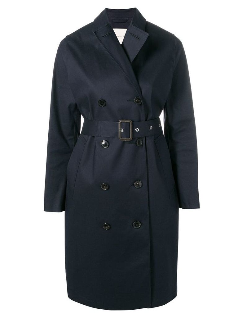 Mackintosh Navy Bonded Cotton Trench Coat LR-022 - Blue