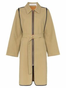 See By Chloé Zip-up cotton trench coat - Neutrals