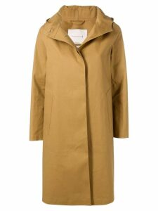 Mackintosh Autumn Bonded Cotton Hooded Coat LR-021 - Brown
