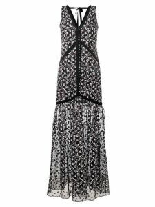 Erdem sleeveless floral embroidered dress - Black