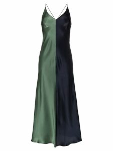 Lee Mathews Sierra two-tone silk slip dress - Green