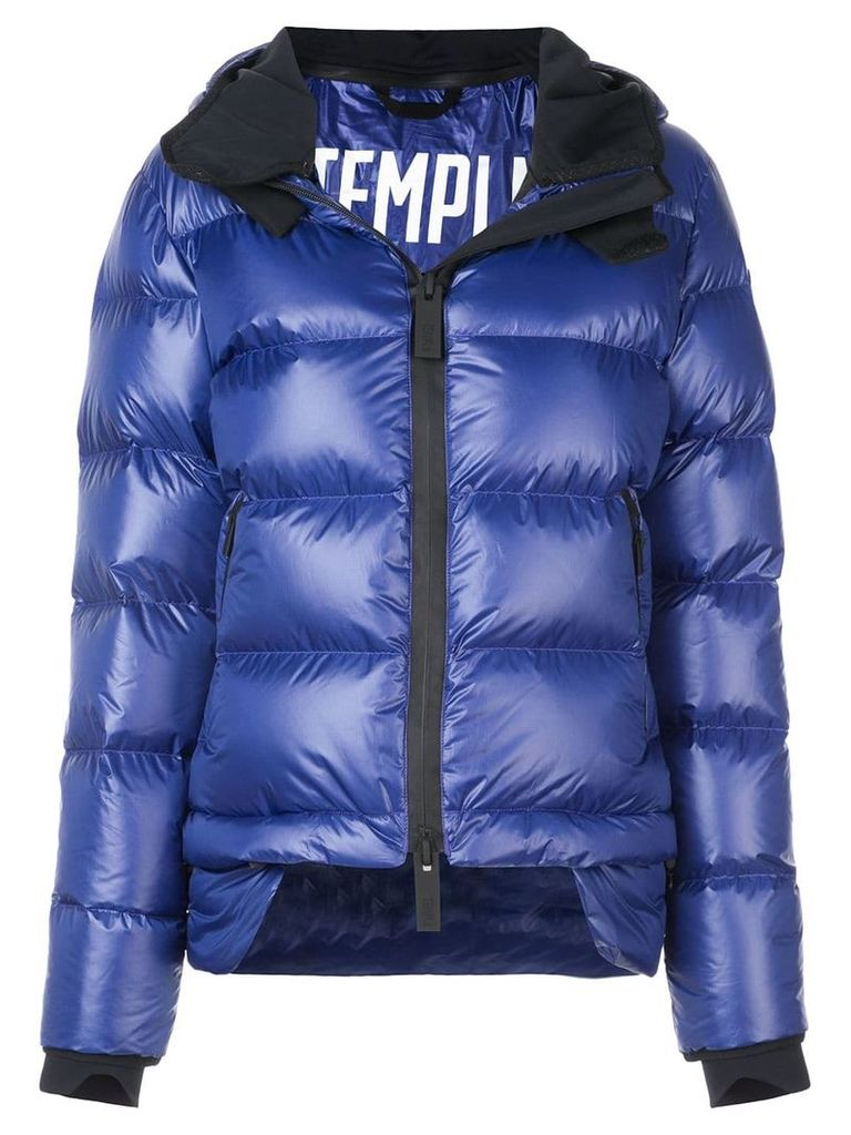 Templa hooded down jacket - Blue