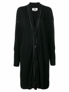 Mm6 Maison Margiela contrast stitch cardi-coat - Black