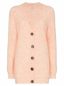 Ganni Callahan button-down knitted cardigan - Pink