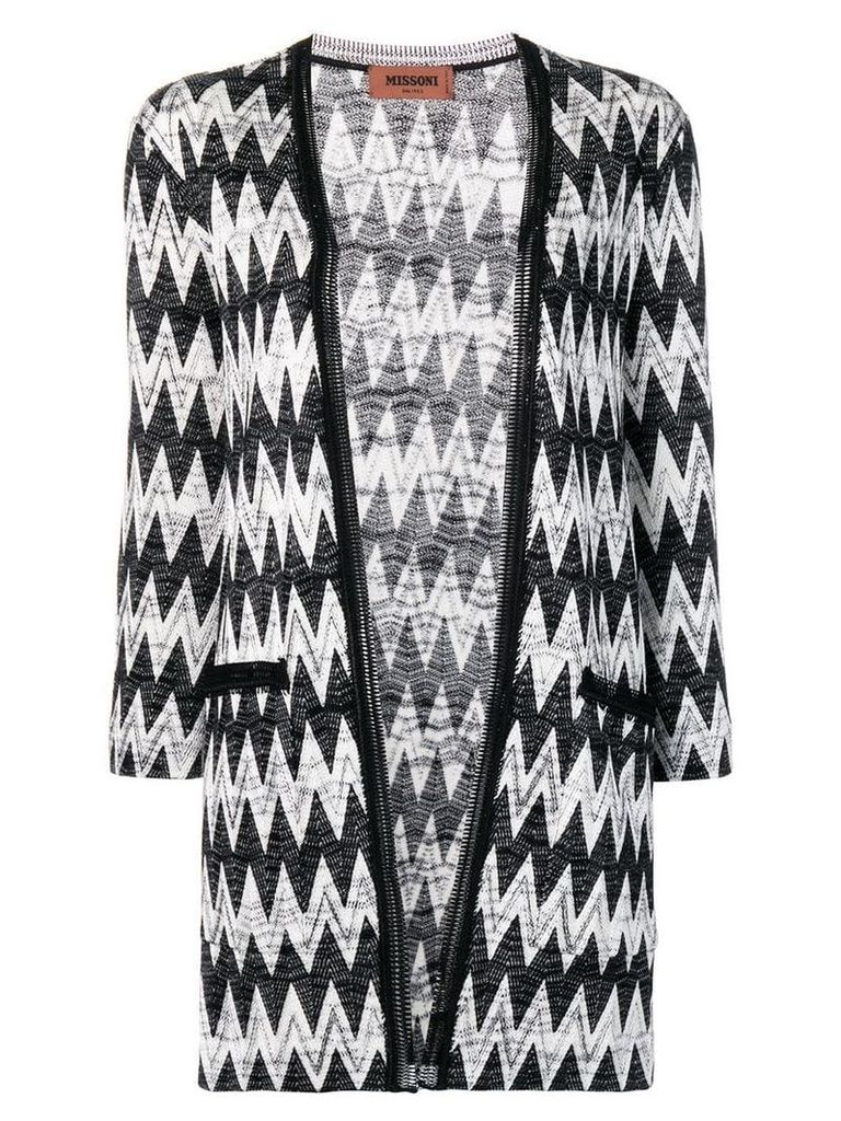 Missoni zig-zag knitted cardigan - Black