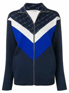 Stella McCartney monogram track jacket - Blue