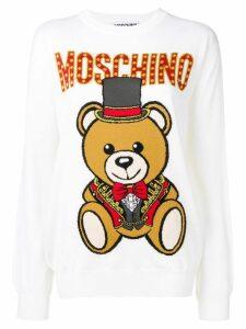 Moschino Teddy Circus intarsia jumper - White