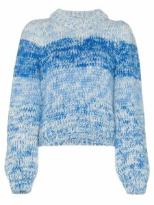 Ganni Julliard knitted long sleeve jumper - Blue