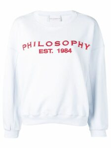 Philosophy Di Lorenzo Serafini embroidered logo sweatshirt - Blue