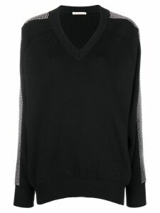Christopher Kane crystal v-neck knit - Black
