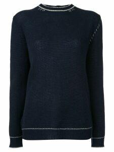 Marni rear button-down sweater - Blue