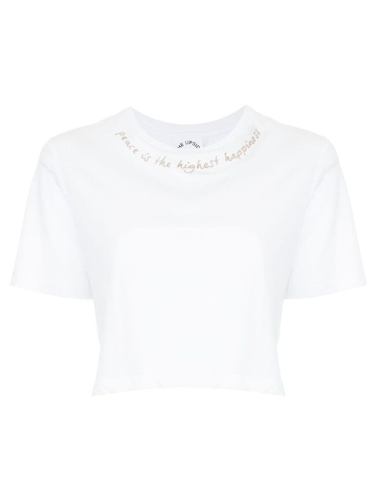 The Upside cropped T-shirt - White