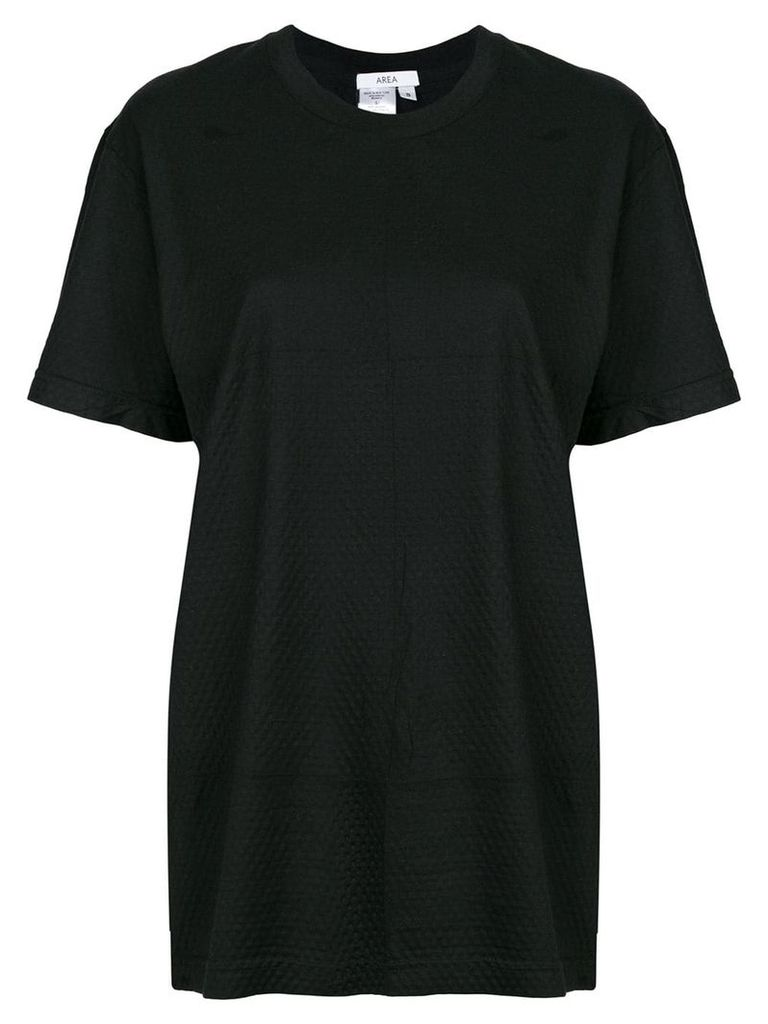 Area perforated T-shirt - Black