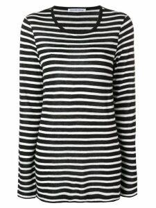 T By Alexander Wang striped jersey - Black