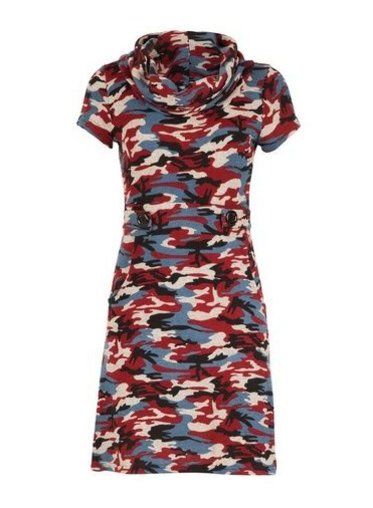 Womens *Tenki Multi Animal Print Tunic Dress- Multi Colour, Multi Colour