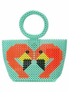 Delduca swan mini bag - Green