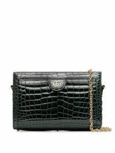 Gucci green Ophidia small crocodile leather shoulder bag