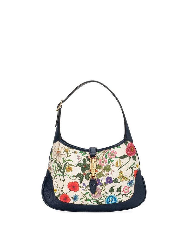 Gucci floral shoulder bag - Blue