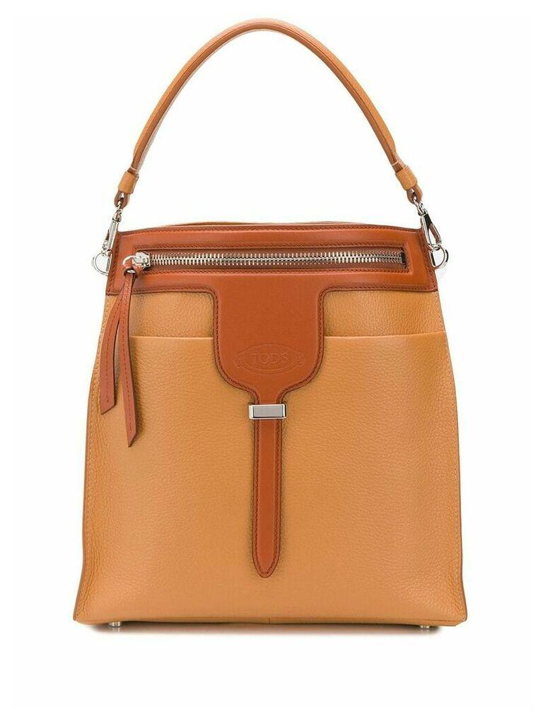 Tod's zipped bucket bag - Brown
