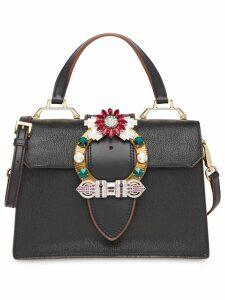 Miu Miu Miu Lady madras leather handbag - Black