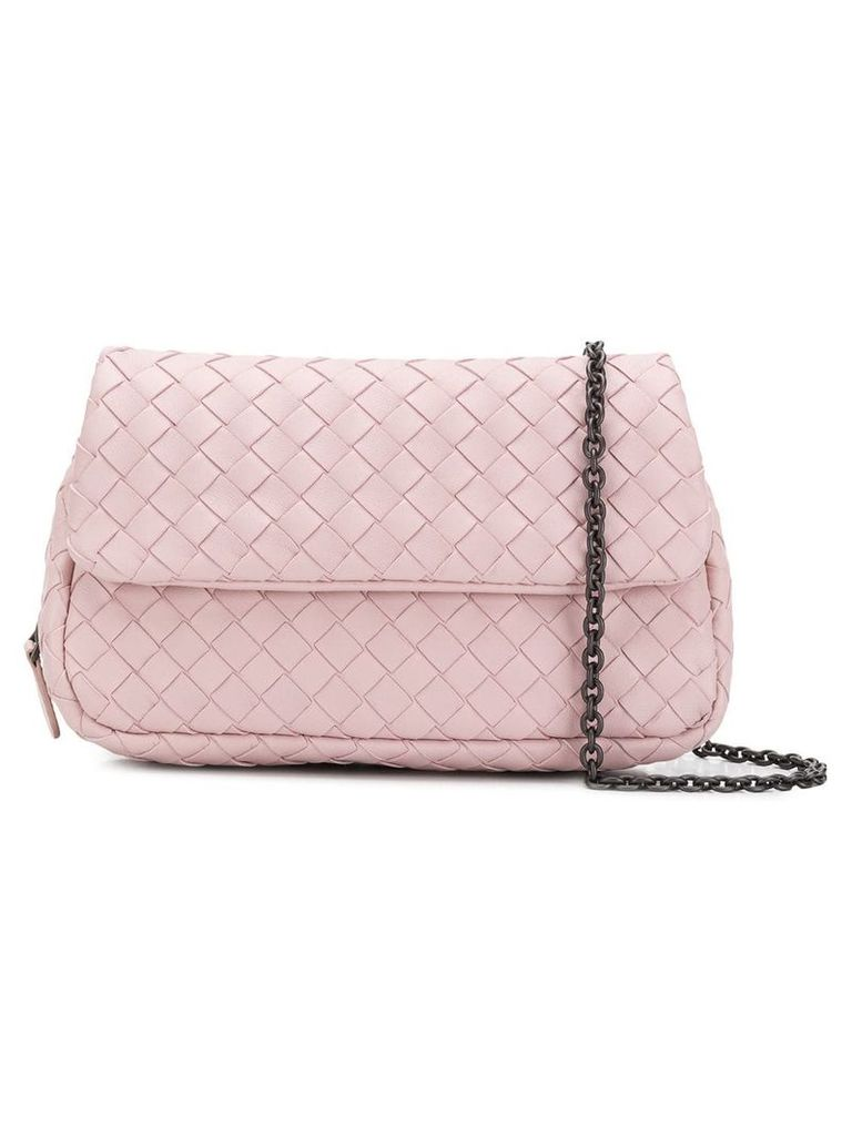 Bottega Veneta Intrecciato crossbody bag - Pink