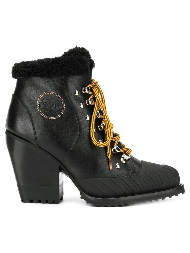 Chloé lace up ankle boots - Black