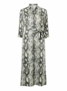 Womens **Only Snake Printed Shirt Dress- Neutral, Neutral