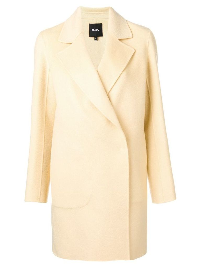 Theory double-breasted fitted coat - Neutrals