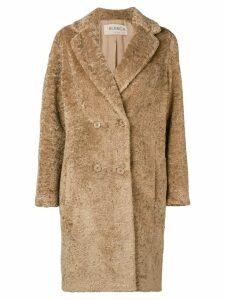Blanca eco fur overcoat - Brown
