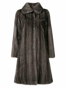 Liska mink fur coat - Blue
