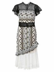Sea lace cocktail dress - Black