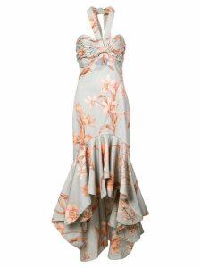 Johanna Ortiz floral print asymmetric dress - Grey