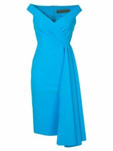 Greta Constantine Minnedosa midi dress - Blue