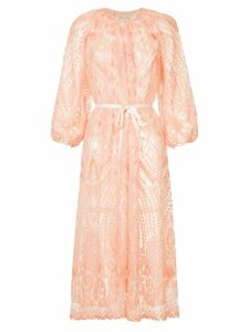 Huishan Zhang geometric pattern midi dress - Pink