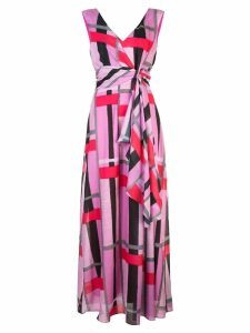Josie Natori taisho stripe maxi dress - Pink