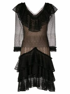 Alexander McQueen sheer ruffle dress - Black
