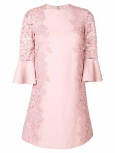Valentino lace trim mini dress - Pink