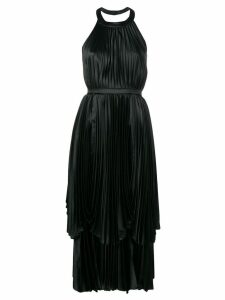 Parlor pleated layered dress - Black