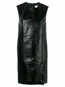 MSGM crocodile effect short dress - Black