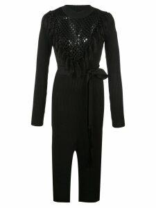 Yigal Azrouel Macrame Knit Dress - Black