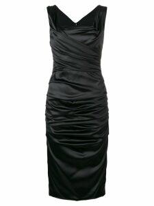 Dolce & Gabbana gathered ruffle midi dress - Black