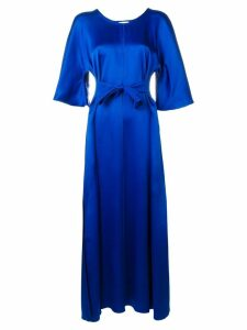 Forte Forte tie front maxi dress - Blue