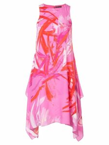 Josie Natori prism print dress - Pink