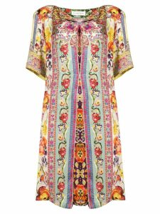 Etro floral print tunic dress - Green