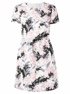 Red Valentino floral printed mini dress - Pink