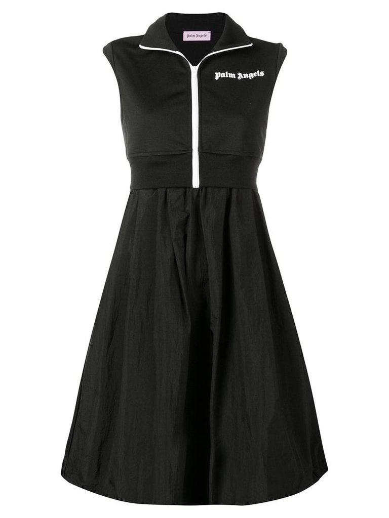 Palm Angels logo layered dress - Black