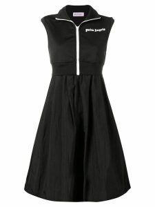 Palm Angels logo layered dress - Black
